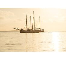 Recreational Yacht at the Indian Ocean Photographic Print