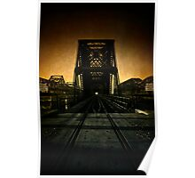 """Old Bridges"" - Memphis, Tennessee Poster"