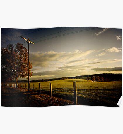 Rural Arkansas at Sunset - West Pangburn, Arkansas Poster