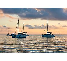Recreational Yachts at the Indian Ocean Photographic Print