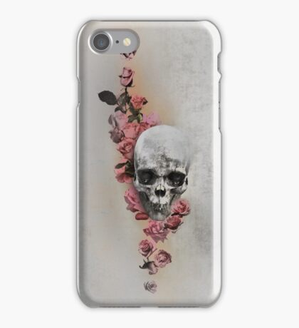 Skull And Roses, Parchment iPhone Case/Skin