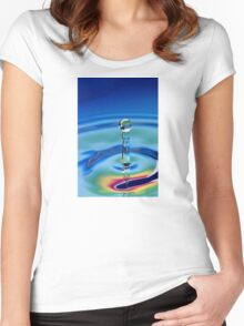 Water Statue Women's Fitted Scoop T-Shirt