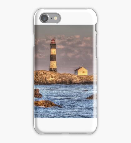 Lighthouse at Race Rocks iPhone Case/Skin