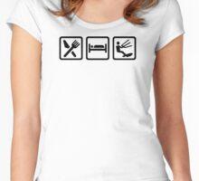 Eat sleep Kitesurfing Women's Fitted Scoop T-Shirt
