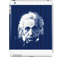 Albert Einstein Portrait with blue text background  iPad Case/Skin