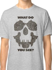 Watchmen - Rorschach Typography  Classic T-Shirt