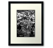 Cherub Pair in BW Framed Print