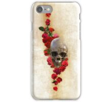 Skull And Roses, Color iPhone Case/Skin