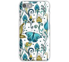 Floral pattern with butterfly iPhone Case/Skin