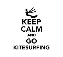 Keep calm and go Kitesurfing Photographic Print