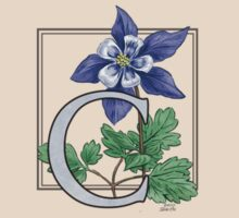 C is for Columbine - patch by Stephanie Smith