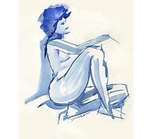 Blue Repose Photographic Print