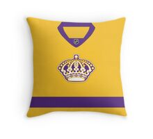 Los Angeles Kings Gold Throwback Jersey Throw Pillow