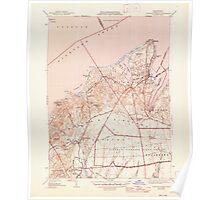 Massachusetts  USGS Historical Topo Map MA Vineyard Haven 352285 1944 31680 Poster