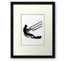 Kitesurfing Framed Print