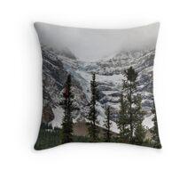 Snowy glaciers Throw Pillow