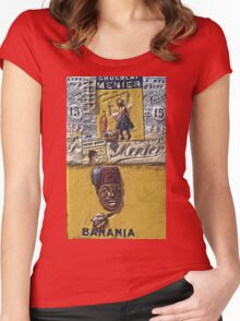 """Exclusive: """" Banania & Chocolat Meunier """" / My Creations Artistic Sculpture Relief fact Main 27  (c)(h) by Olao-Olavia / Okaio Créations Women's Fitted Scoop T-Shirt"""
