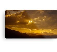 Gilded, Golden Hour sunset over the Rockies. Metal Print