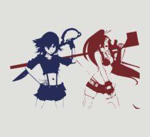 kill la kill gurren lagann yoko littner ryuko matoi anime manga shirt by ToDum2Lov3