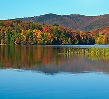 Kent Pond in Autumn by Susan R. Wacker