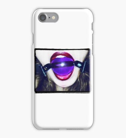 Purple Ball Gag iPhone Case/Skin