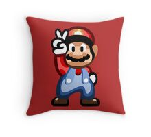 Mario 16 Bit Throw Pillow