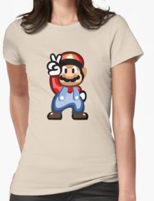 Mario 16 Bit Womens Fitted T-Shirt