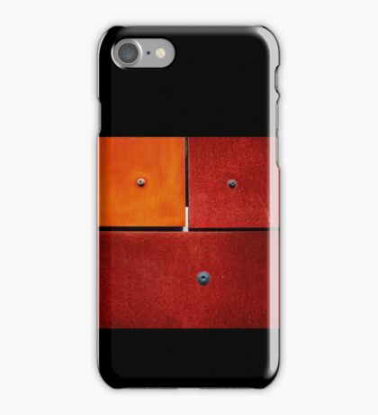 1 2 3 Colorful Rust Red iPhone Case/Skin