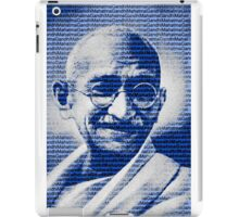 Mahatma Gandhi portrait with blue background  iPad Case/Skin