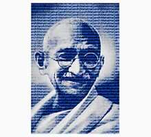 Mahatma Gandhi portrait with blue background  Unisex T-Shirt
