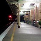 Tamworth Train Station Platform by Bernie Stronner