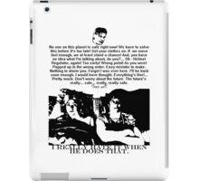 Sleep well (even though the future is in danger...) iPad Case/Skin