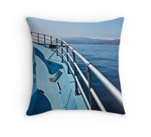 Catalina in the Distance-Color Throw Pillow