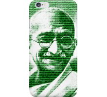 Mahatma Gandhi portrait with green  background  iPhone Case/Skin