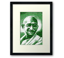 Mahatma Gandhi portrait with green  background  Framed Print