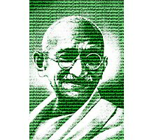 Mahatma Gandhi portrait with green  background  Photographic Print