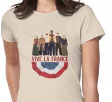 Vive La France Banner w/ Revolutionaries  Womens Fitted T-Shirt
