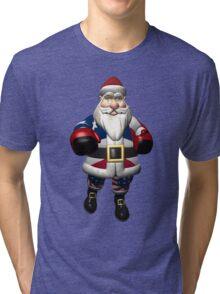 US Santa Claus At Boxing Day Tri-blend T-Shirt