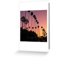 Sunset on Franklin- Los Angeles, CA Greeting Card