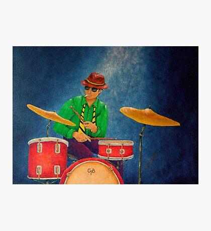 Jazz Drummer Photographic Print