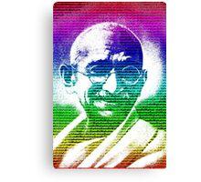 Mahatma Gandhi portrait with multicolour background  Canvas Print