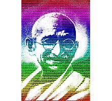Mahatma Gandhi portrait with multicolour background  Photographic Print