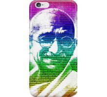 Mahatma Gandhi portrait with multicolour background  iPhone Case/Skin