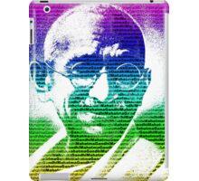 Mahatma Gandhi portrait with multicolour background  iPad Case/Skin