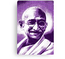 Mahatma Gandhi portrait with purple background  Canvas Print