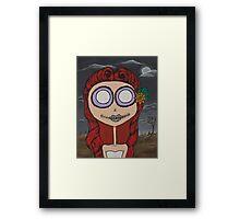 Graveyard Girl Framed Print