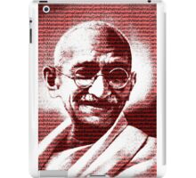 Mahatma Gandhi portrait with red background  iPad Case/Skin