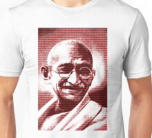 Mahatma Gandhi portrait with red background  Unisex T-Shirt