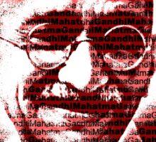Mahatma Gandhi portrait with red background  Sticker