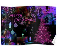 Merry Christmas.Card. Poster